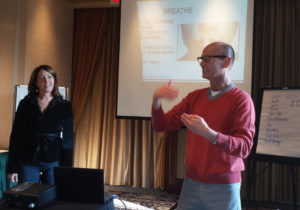 Scott Russell & Kate Harth conduct a training in Vancouver, Canada.