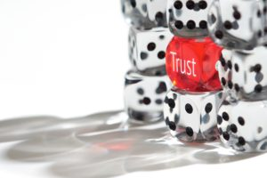 Trust Concept: Rolling the dice